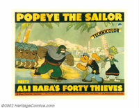 "Popeye the Sailor Meets Ali Baba's Forty Thieves (Paramount, 1937). Half Sheet (22"" X 28""). During the late th..."