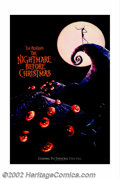 "Movie Posters:Animated, Nightmare Before Christmas (Touchstone, 1993). Lenticular One Sheet(27"" X 41""). Tim Burton's highly creative animated film ..."