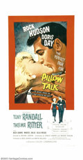 """Movie Posters:Comedy, Pillow Talk (Universal, 1959). Three Sheet (41"""" X 81""""). This wasthe first teaming of Doris Day and Rock Hudson, and perhaps..."""