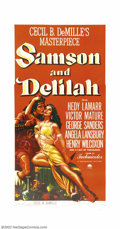 "Movie Posters:Adventure, Samson and Delilah (Paramount, 1949). Three Sheet (41"" X 81"").Victor Mature as the strongman Samson, loses his locks of hai..."