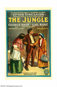 """Jungle, The (All Star Feature Films, 1914). One Sheet (27"""" X 41""""). This historic one sheet may be the only cop..."""