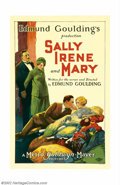 "Movie Posters:Comedy, Sally, Irene, and Mary (MGM, 1925). One Sheet (27"" X 41""). Thislovely Stone Litho is from the MGM comedy-drama adapted from..."