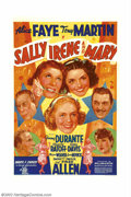 "Movie Posters:Comedy, Sally, Irene, and Mary (20th Century Fox, 1938).One Sheet (27"" X41""). This one sheet is a wonderful example of 20th Century..."