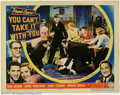 "Movie Posters:Comedy, You Can't Take It With You (Columbia, 1938). Autographed Lobby Card(11"" X 14""). Frank Capra has signed this great lobby fro..."