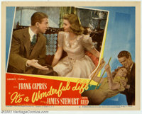 """It's a Wonderful Life (RKO, 1946). Lobby Card #2 (11"""" X 14""""). Upon release of Frank Capra's small film in 1946..."""