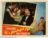 """It's a Wonderful Life (RKO, 1946). Lobby Card #3 (11"""" X 14""""). Offered here is the card that features the famou..."""