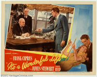 """It's a Wonderful Life (RKO, 1946). Lobby Card #4 (11"""" X 14""""). This is the famous scene in which George Stewart..."""