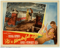 """It's a Wonderful Life (RKO, 1946). Lobby Card #8 (11"""" X 14""""). This lot includes the scene after George (Stewar..."""