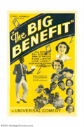 "Movie Posters:Miscellaneous, Big Benefit, The (Universal, 1933). One Sheet (27"" X 41""). ThisUniversal musical short subject starred some of the studios ..."