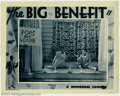 "Movie Posters:Miscellaneous, Big Benefit, The (Universal, 1933). Lobby Card (11"" X 14""). Offeredhere is a lobby card from this short which features the ..."