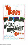 "Movie Posters:Musical, Hard Day's Night, A (United Artists, 1964). One Sheet (27"" X 41""). Fabulous first outing for the Beatles has director Richar..."
