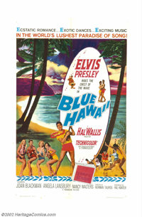 "Blue Hawaii (Paramount, 1961). One Sheet (27"" X 41""). This was the picture that set the stage for all of Elvis..."