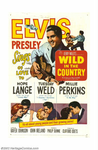 "Elvis Presley Lot #1 Three One Sheets (27"" X 41""). WILD IN THE COUNTRY (20th Century Fox, 1961) Fine-, FOLLOW..."
