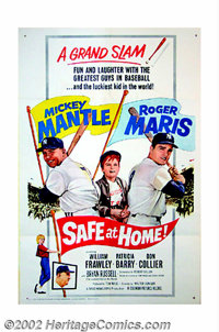 "Safe at Home (Columbia, 1962). One Sheet (27"" X 41""). Step up to the plate and take a shot at this legendary p..."