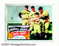 """Movie Posters:Sports, Safe at Home (Columbia, 1962). (7) Lobby Cards (11"""" X 14""""). Baseball legends Mickey Mantle and Roger Maris were cast in this..."""