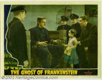 "Ghost of Frankenstein (Universal, 1942). Lobby Card (11"" X 14"").The last of Universal's solo Frankenstein film..."