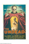 "Movie Posters:Horror, Undead, The (AIP, 1957). One Sheet (27"" X 41""). Very Fine. ..."