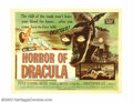 """Movie Posters:Horror, Horror of Dracula (Warner Brothers, 1958). Half Sheet (22"""" X 28""""). Christopher Lee stars as Dracula in this horror tale abou..."""