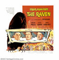"Movie Posters:Horror, The Raven (Universal, 1963). Six Sheet (81"" X 81""). Roger Corman directed this satirical take on the horror of Edgar Allan P..."