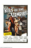 """Movie Posters:Horror, Kiss of the Vampire (Universal International, 1963). One Sheet (27"""" X 41""""). Hammer films released this film after """"Brides of..."""