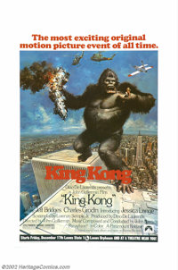 """King Kong (Paramount, 1976). One Sheet (27"""" X 41""""). This film holds much more interest in light of the events..."""