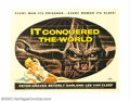 "Movie Posters:Science Fiction, It Conquered the World (American International, 1956). Half Sheet (22"" X 28""). Roger Corman directed this thriller about an ..."