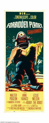 """Forbidden Planet (Loews - MGM, 1956). Insert (14"""" X 36""""). This is one of the top ten collectible science ficti..."""