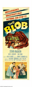 """Movie Posters:Science Fiction, The Blob (Paramount, 1958). Insert (14"""" X 36""""). Steve McQueen made his motion picture debut in this classic science fiction ..."""