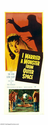 "I Married a Monster From Outer Space (Paramount, 1958). Insert (14"" X 36""). This is a highly underrated alien..."