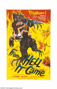 "From Hell It Came (Allied Artists, 1957). One Sheet (27"" x 41""). Prior to ""Little Shop of Horrors"" p..."