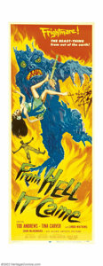 "Movie Posters:Horror, From Hell It Came (Allied Artists, 1957). Insert (14"" X 36""). Very Fine. Folded. ..."