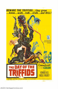 """Day of the Triffids (Allied Artists, 1963). One Sheet (27"""" X 41""""). Based on John Wyndham's novel, this thrille..."""