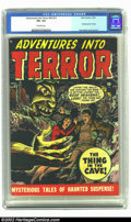 Golden Age (1938-1955):Horror, Adventures Into Terror 43 (#1) (Atlas, 1950) CGC VF+ 8.5 Off-white pages. Keeping up with all the Timely/Atlas titles in the...