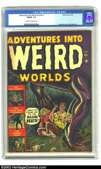 Adventures Into Weird Worlds #1 (Atlas, 1952) CGC FN/VF 7.0 Cream to off-white pages. Joe Maneely and Russ Heath practic...
