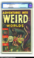 Golden Age (1938-1955):Horror, Adventures Into Weird Worlds Group Of Four (Atlas, 1950's). Thislot features four great Atlas Horror comics: issues #1 (CGC...(Total: 4 Comic Books Item)