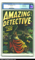 Golden Age (1938-1955):Horror, Amazing Detective #11 White Mountain pedigree (Atlas, 1952) CGC VF-7.5 Off-white pages. Interest in pre-code horror continu...