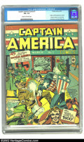 Golden Age (1938-1955):Superhero, Captain America Comics #1 (Timely, 1941) CGC FN+ 6.5 Cream to off-white pages. If you could have only one comic book this cl...