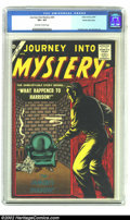 Silver Age (1956-1969):Horror, Journey into Mystery #45 White Mountain pedigree (Marvel, 1957) CGCVF+ 8.5 Off-white to White pages. Bill Everett provides ...