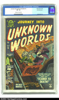Golden Age (1938-1955):Horror, Journey into Unknown Worlds #16 White Mountain pedigree (Atlas,1953) CGC VF- 7.5 Off-white to white pages. Another example ...