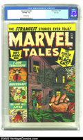 Golden Age (1938-1955):Horror, Marvel Tales #98 River City pedigree (Marvel, 1950) CGC VF/NM 9.0.This early pedigree issue of Marvel Tales is nothing shor...