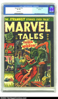 Golden Age (1938-1955):Horror, Marvel Tales #104 Spokane pedigree (Marvel) CGC VF 8.0 Off-whitepages. This copy has that fresh-from-the-stand look with lu...