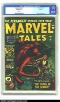 "Golden Age (1938-1955):Horror, Marvel Tales #107 Spokane pedigree (Marvel) CGC VF/NM 9.0 Whitepages. ""The Strangest Stories Ever Told."" Well maybe not the..."