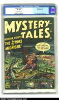 Golden Age (1938-1955):Horror, Mystery Tales #1 White Mountain pedigree (Atlas, 1952) CGC VF 8.0Off-white to white pages. This Atlas title lasted 54 issue...