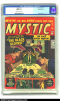 Golden Age (1938-1955):Horror, Mystic #11 White Mountain pedigree (Atlas, 1952) CGC FN/VF 7.0Off-white to white pages. Timely/Atlas loved the logo so much...