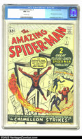 Silver Age (1956-1969):Superhero, The Amazing Spider-Man #1 (Marvel, 1963) CGC NM+ 9.6 Off-whitepages. This is simply a superb copy of the very first edition...