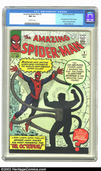The Amazing Spider-Man #3 (Marvel, 1963) CGC NM 9.4 Off-white pages. There are even fewer high-grade copies of issue #3...