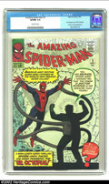 Silver Age (1956-1969):Superhero, The Amazing Spider-Man #3 (Marvel, 1963) CGC VF/NM 9.0 Off-whitepages. Yet another classic Spidey villain is introduced in ...
