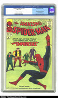 Silver Age (1956-1969):Superhero, The Amazing Spider-Man #10 (Marvel, 1964) CGC NM+ 9.6 Off-white to white pages. Big Man and the Enforcers join up to try and...
