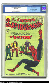 The Amazing Spider-Man #10 (Marvel, 1964) CGC NM+ 9.6 Off-white to white pages. Big Man and the Enforcers join up to try...