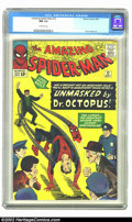 Silver Age (1956-1969):Superhero, The Amazing Spider-Man #12 (Marvel, 1964) CGC NM 9.4 Off-whitepages. This has just a few subtle technical flaws which keep ...